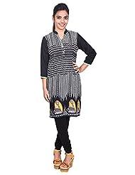 Aavran Women's Viscose Regular Fit Kurta