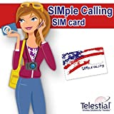 Telestial SIMple Calling Plus USA and Canada Dual-IMSI SIM with $10 Credit