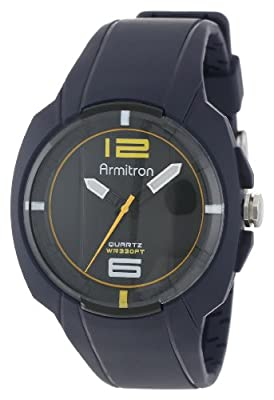 Click for Armitron Men's 20/4911BLU Sport Navy Blue Resin Strap Analog Watch