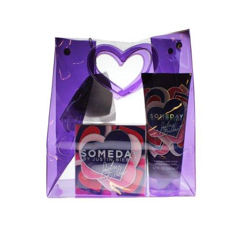Justin Bieber Someday EDP 30ml/ Body Lotion and Keep Sake Bag and Fresher 200ml