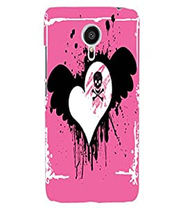 ColourCraft Love Heart Design Back Case Cover for MEIZU MX5