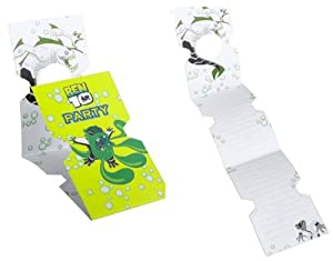 Ben 10 Alien Force Party Invitations pack of 6