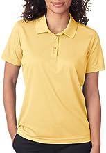 UltraClub Cool amp Dry Women39s Moisture Wicking Mesh Polo Shirt Yellow Haze