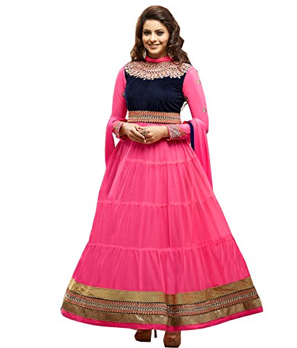 Craze N Demand Beautiful Wear Anarkali Type Salwar Suits Salwar Kameez Indian Womens Wear Ladies Wear Suit Dress Material
