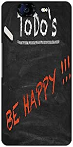 Snoogg Todo Happy Graphic 2803 Designer Protective Back Case Cover For Micromax Canvas Knight A350