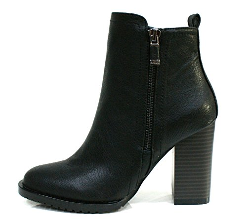 Gaudi Tronchetto Donna Verity Zip Tacco Cm 9 Leather Black_37