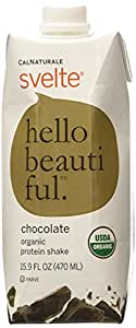 CalNaturale Svelte Chocolate Organic Protein Shake, 15.9 Ounce (Pack of 6)