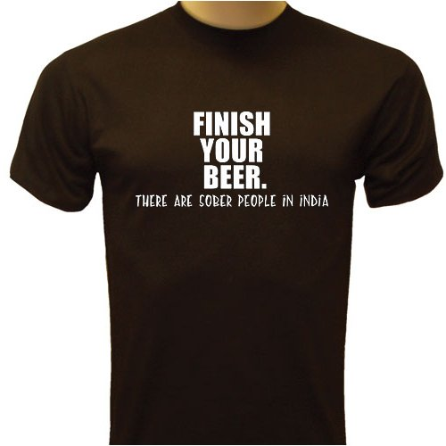 Finish Your BEER T-Shirt, Funny T-Shirt, Drinking T-Shirt,  Charcoal
