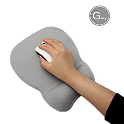 Cow Style Wrist Rest Support Mouse Pad, Cows Silicone Wrist Mouse Pad Super Cute Type Satisfy Cushion Fresh Mouse Pad (GrayⅡ)