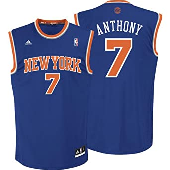 Buy Carmelo Anthony New York Knicks Blue - Away NBA Youth 2013 Revolution 30 Replica Jersey by adidas
