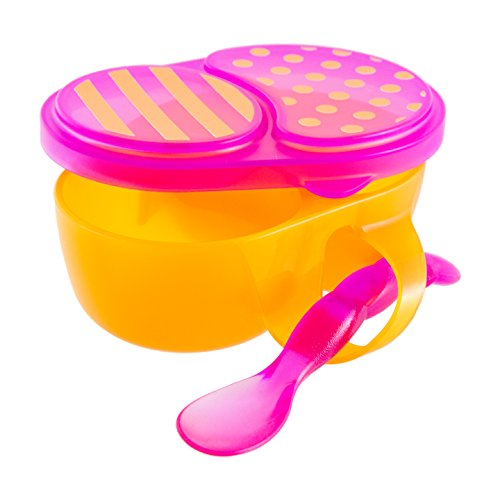 Sassy First Solids Bowl and Spoon, Pink/Orange (Sassy Bowl Set compare prices)