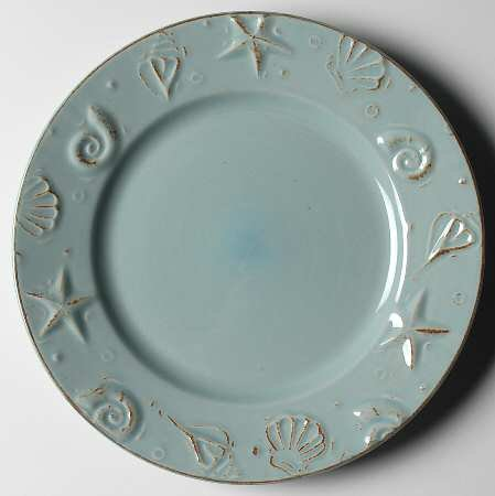 thomson-pottery-cape-cod-10-1-2-dinner-plates-aqua-blue-set-of-4-open-stock