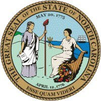 North Carolina State Seal Flag Clear Acrylic Fridge Magnet 2.75 Inches X 2 Inches