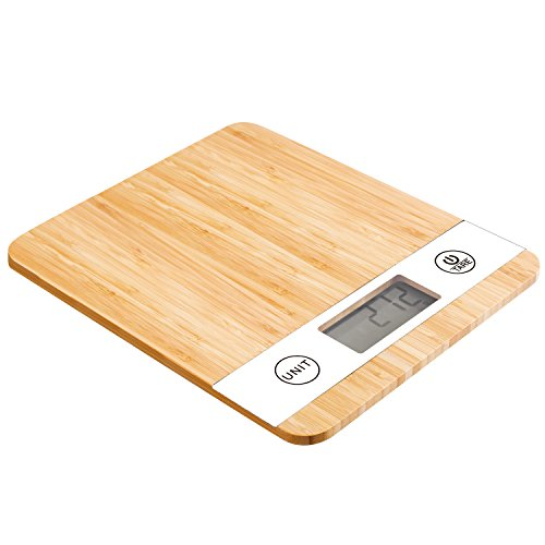 Bilancia digitale da cucina Smart Weigh KBS100 Bamboo con funzione tara