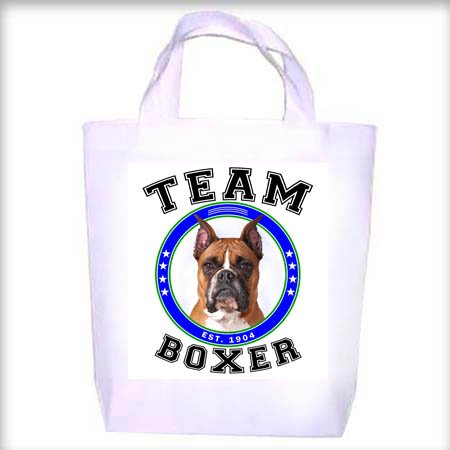 Boxer CROPPED TEAM Shopping - Dog Toy - Tote Bag