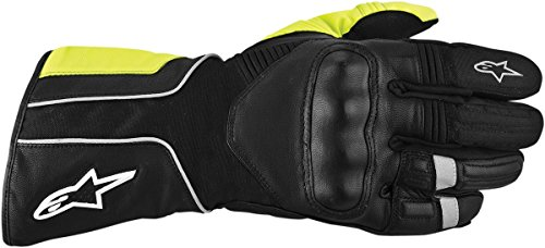 Alpinestars Overland Drystar Waterproof Textile Leather Gloves Black Fluorescent Yellow XXL/XX-Large