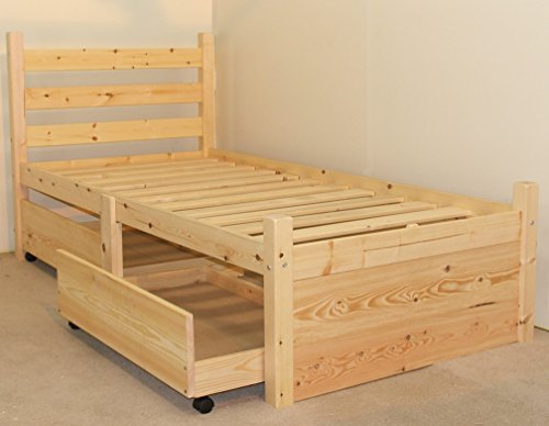 Cheap Small Single 2ft 6 Wooden Storage Pine Bed Frame Top Bed