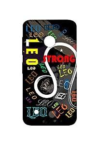 VDESI Designer Matte Back Cover For Nokia Lumia 530 Dual SIM - Leo (Blk)