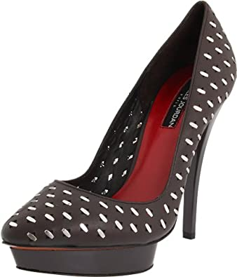 Charles Jourdan Collection Women's West Platform Pump,Charcoal,6 M US