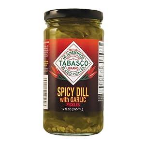 Tabasco Spicy Dill Pickles With Garlic 12 Oz Jar by McIlhenny Company