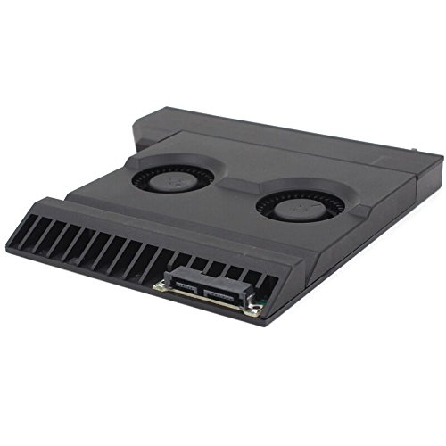 Laptop optical CD drive modified cooling Cooler SATA Interface quiet Adjustable speed ventilation radiator turbo 2 fans (Ventilation Radiator Cooler compare prices)