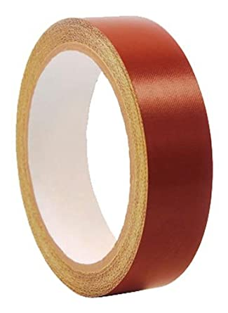 "CS Hyde PTFE / Fiberglass Laminate with Silicone Adhesive Liner, 4 mil Thick, Red, 0.5"" Width x 5 Yard Roll"