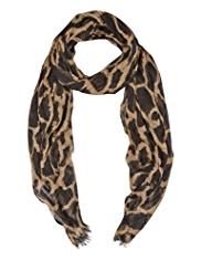 M&S Collection Lightweight Giraffe Print Scarf