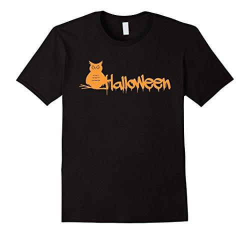 Men's Owl Halloween Costume T-Shirt 3XL Black (Halaween Costume)
