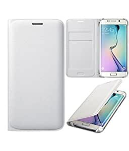 True Premium Leather Wallet Flip Case Cover for Samsung Galaxy G530-White