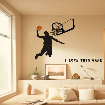 Boys room sports shopswell for Basketball wall decals