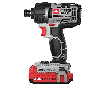 PORTER-CABLE PCCK640LB 20-volt 1/4-Inch Hex Lithium Ion Impact Driver Kit from PORTER-CABLE