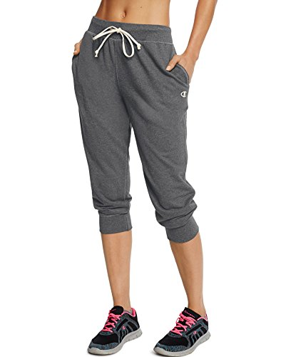Champion Women's French Terry Jogger Capri, Granite Heather, X-Large