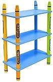 Bebe Style Estantería infantil de madera con 3niveles azul azul