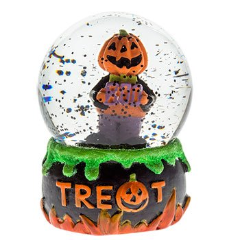 Mini Ceramic and Glass Halloween Water Globes, 4