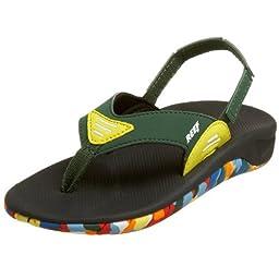 Reef Slap Flip Flop (Toddler/Little Kid/Big Kid),Green/Yellow,5/6 M US Toddler
