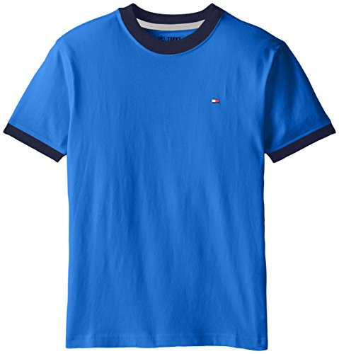 Tommy Hilfiger Big Boys' Ken Tee, Blue Jean,