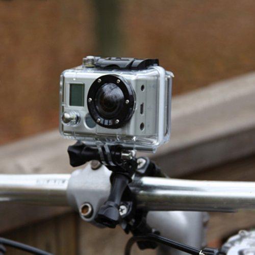 Neewer® Black Bike Handlebar Seatpost Pole Mount For Gopro Hero 4 3+ 3 2 1 front-669590