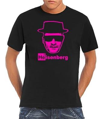 Touchlines Herren Breaking Bad - Heisenberg Walther White T-Shirt, black/neonpink, XL, B1928-Black/Neonpink-XL