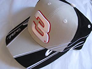 Dale Earnhardt Sr #3 The Intimidator With Large Embroidered #3 On Brow of Hat Silver... by Winner