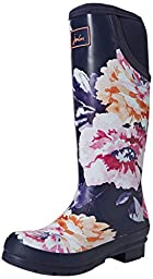 Joules Neola Welly Boot - Women\'s Navy Rose, US 9.0/UK 7.0