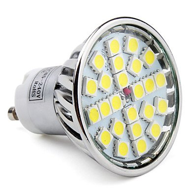 Luo Gu10 24-5050 Smd 3.5-4W 220-280Lm 6000-6500K Natural White Light Led Spot Bulb (85-265V)
