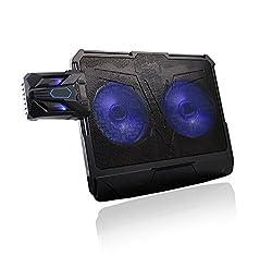 BlueFinger Newest Arrival 2 in 1 LED Laptop Cooler & Cooling Pad for 12