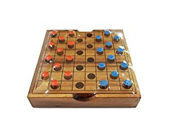 Portable Wooden Checkers Game (Random Color)