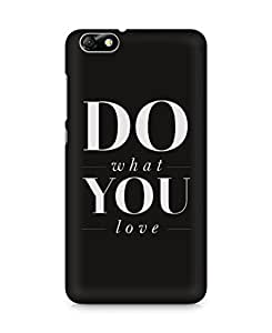 Amez designer printed 3d premium high quality back case cover for Huawei Honor 4X (Love Quote 2)