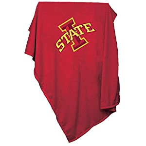 Iowa State Cyclones NCAA Sweatshirt Blanket Throw by Logo Chair