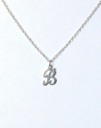 Midor925 925 Sterling Silver Childrens Initial Pendant Necklacemd00155NIn Gift Box