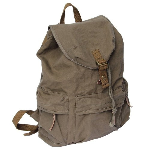 Kattee Canvas backpack SLR DSLR digital camera gadget organizer bag - waterproof,multi-compartments