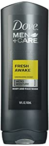 Dove Men + Care Body and Face Wash, Fresh Awake, 18 Ounce