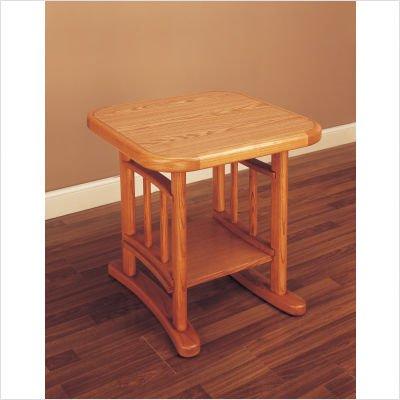 Cheap Hillsdale Covington Square Wood Top End Table in Light Oak (4179-882)