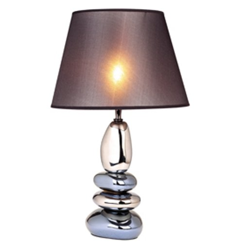 ORE International 625 12-Inch Ceramic Table Lamp Ivory with Empire Lamp Shade